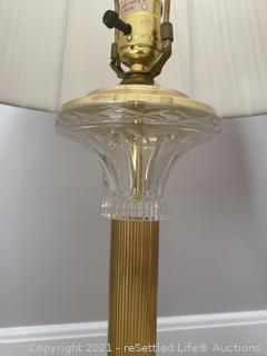Lamp and Floral with Column