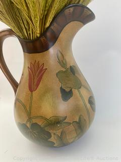 Vase, Pitcher, and Asian Decor