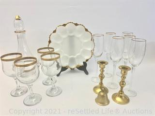 Decanter and Matching Stemware