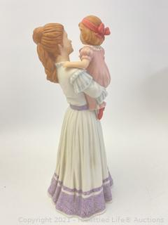 Timex Anniversary Clock and Masterpiece Porcelain Figurines