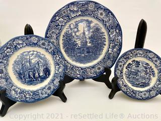 Liberty Blue Staffordshire Ironstone Collectible Plates
