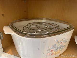 Vintage Pyrex Casseroles, Calphalon Pan and More