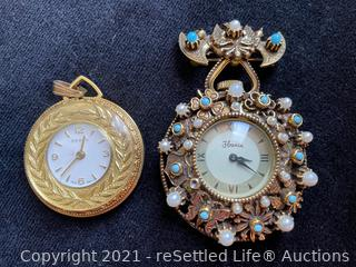 Pair of Pendant Watches