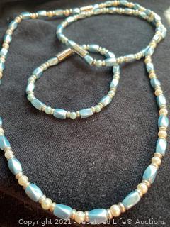 Hematite Necklace and Bracelets