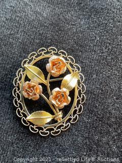Krementz Gold Filled Brooch