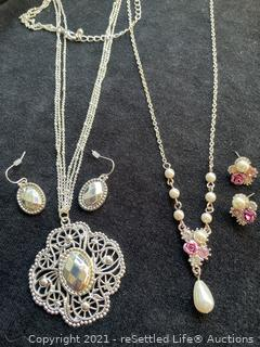 Pair of Necklace and Earring Sets