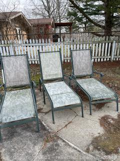 Trio of  Chaise Loungers