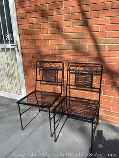 Pair of Wrought Iron Chairs