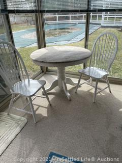Pedestal Table and Chairs
