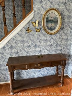 Foyer Table and Wall Decor