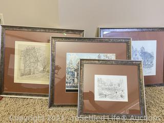 Variety of Framed Artwork