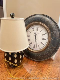Table Lamp and Clock