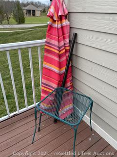 Umbrella and Side Table