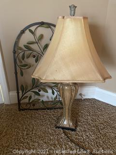 Lamp & Metal Wall Decor