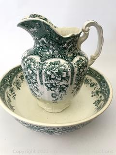 Athens W & B Pitcher and Basin