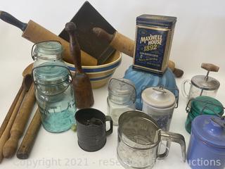 Variety of Vintage Kitchen Items