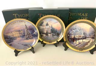 Trio of Thomas Kinkade Collectible Plates