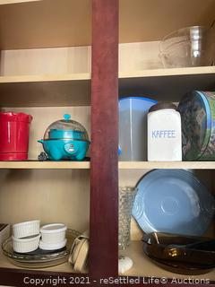 Fiesta Serving Plate, Pampered Chef Mixing Bowl and More