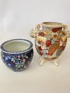 Satsuma Vase and Planter