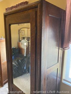 Knockdown Wardrobe with Mirror