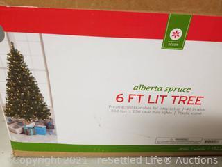 6 Ft Pre-Lit Christmas Tree