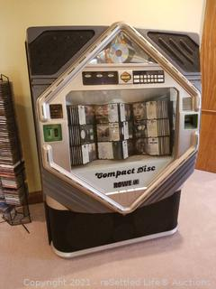 Rowe CD-100E LaserStar IV Compact Disc Phonograph Jukebox & CD Collection