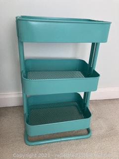 Blue Three Tiered Shelf