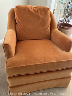 Vintage Pennsylvania House  Swivel  Velour Chair
