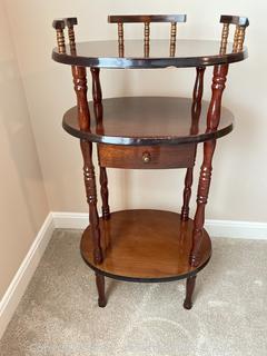 Vintage Three Tier Telephone Stand