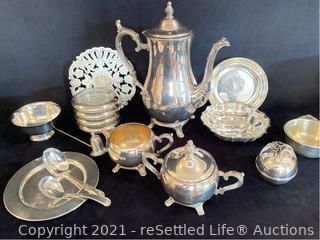 WM Rogers 800 Tea Pot Set and More