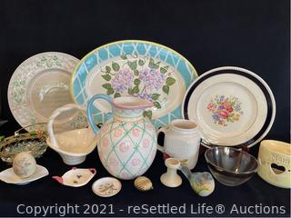 China and Ceramic Platters and Décor
