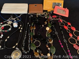 Variety of Costume Jewelry and Wallets