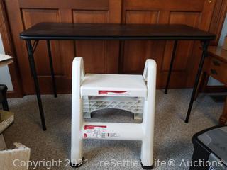 Folding Table & Step Stool