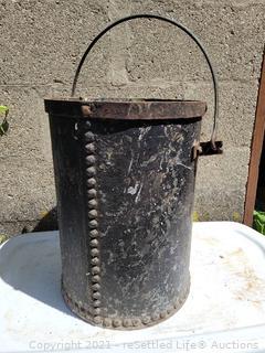 Antique Iron Rivet Bucket
