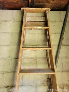 8ft Folding Wood Ladder