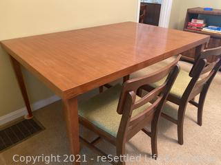 Mid Century Modern Dining Table and 2 Chairs
