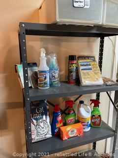 Metal Shelf With Contents