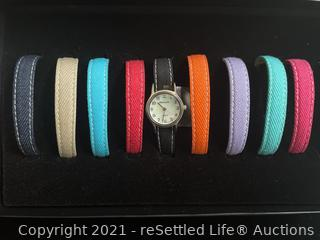 Denim & Co Watch and Changeable Straps