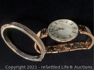 Anne Klein Watch and Bracelet