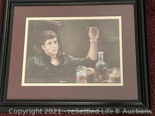 Framed Al Pacino Artwork