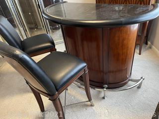 Thomasville Bogart Furniture Bar with Chairs