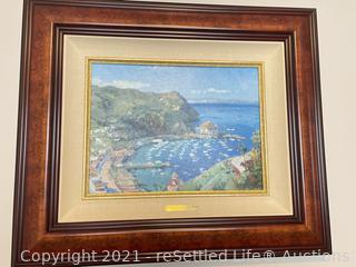 Thomas Kinkaid Framed Canvas