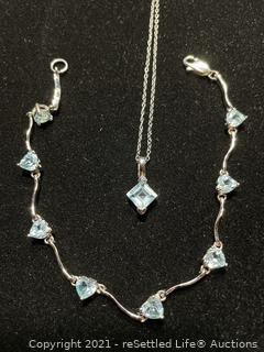 Sterling Silver Bracelet and Necklace