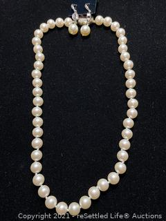 Pearls with Sterling Silver Clasp