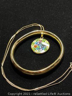 Gold Filled Necklace and Bracelet