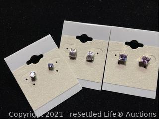 Trio of Sterling Silver Earrings