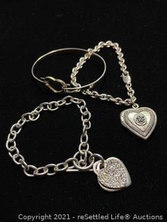 Trio of Sterling Silver Bracelets
