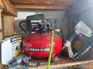 Porter & Cable Air Compressor and Tools