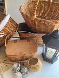 Longaberger Basket, Lantern and More