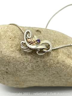 Vintage Sterling Silver CCO Necklace